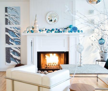 Біло-блакитна новорічна тема для Вас