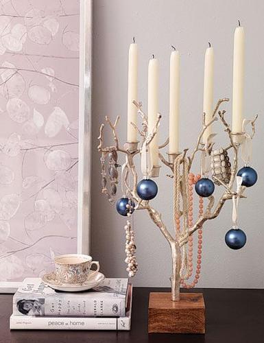 Блакитно-біла новорічна тема