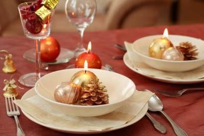 Романтичний новорічний стіл