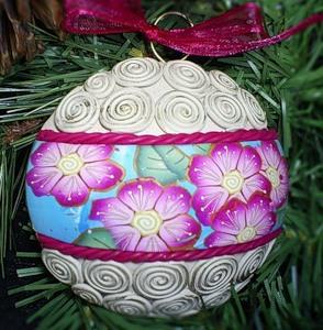Кулі для новорічної ялинки з полімерної глини