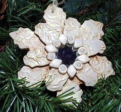 Новорічна зірка з полімерної глини
