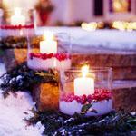 Новорічні прикраси зі свічок