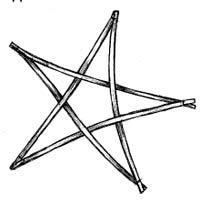 Плетена зірка на новорічну ялинку