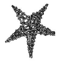 Плетена зірка на новорічну ялинку - крок3