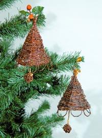 Плетений дзвіночок на новорічну ялинку