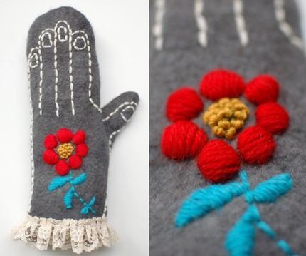 Оригінальні рукавиці в техніці валяння