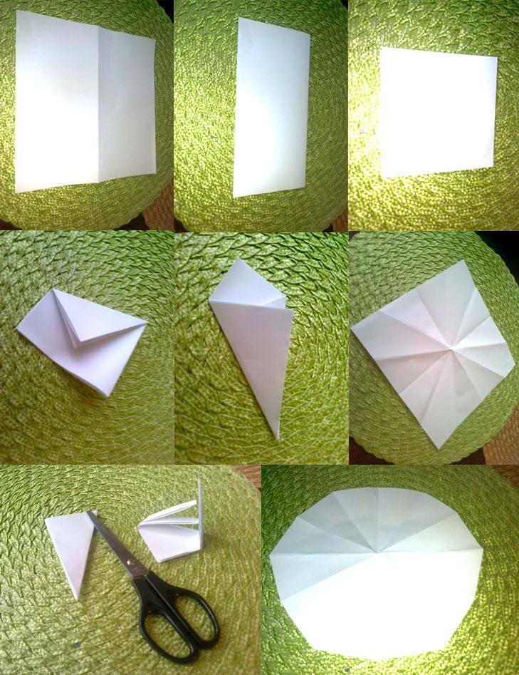 Як скласти папір щоб вирізати сніжинки