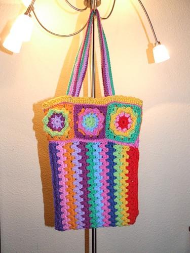 Оригінальна сумка в'язана гачком