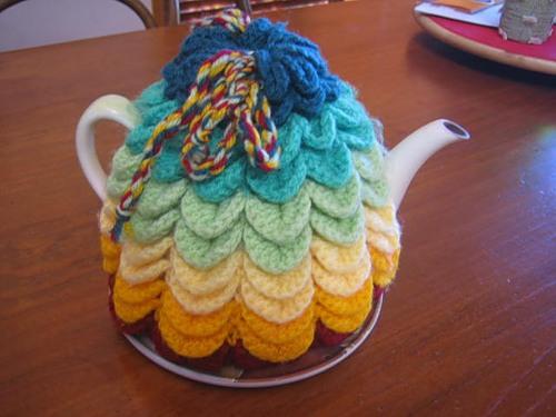 В'язаний светр для чайника - 13