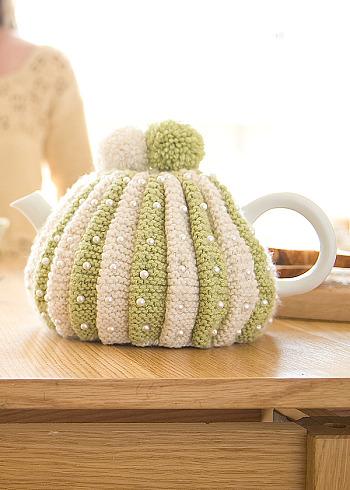 В'язаний светр для чайника - 4