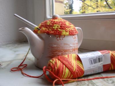 В'язаний светр для чайника - крок2