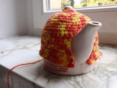 В'язаний светр для чайника - крок3