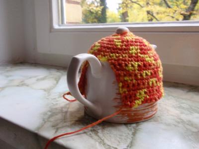 В'язаний светр для чайника - крок4