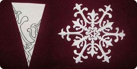 Схема 2 красивої сніжинки з паперу