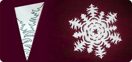 Схема 3 красивої сніжинки з паперу