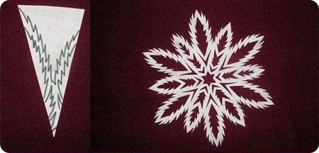 Схема 4 красивої сніжинки з паперу