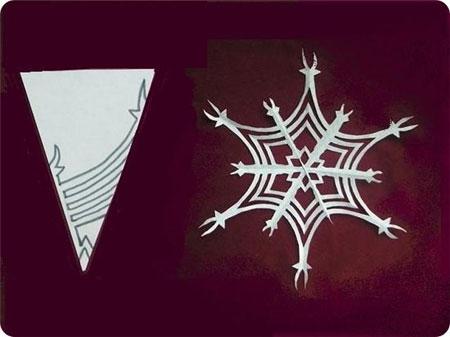 Схема 5 красивої сніжинки з паперу