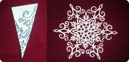 Схема 6 красивої сніжинки з паперу