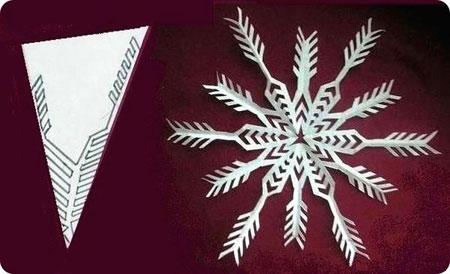 Схема 7 красивої сніжинки з паперу