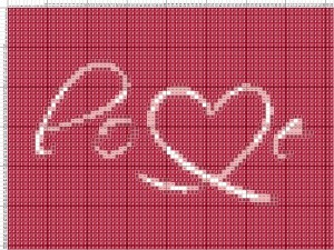 Схема вишивання хрестиком - Валентинка - Любов