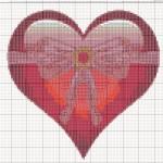 Схеми вишивання хрестиком – Валентинка