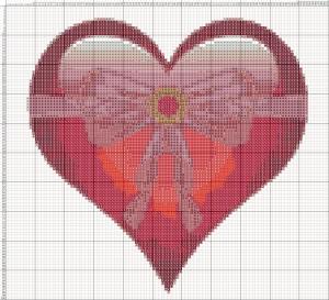 Схема вишивання хрестиком - Валентинка - Дарую серце