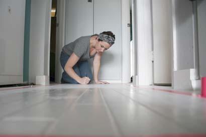Розпис підлоги - крок 1