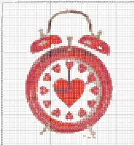 Схема вишивання хрестиком - Валентинка - Час кохання