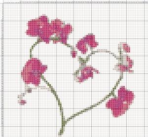 Схема вишивання хрестиком - Валентинка - Романтична