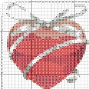 Схема вишивання хрестиком - Валентинка - Моє серце