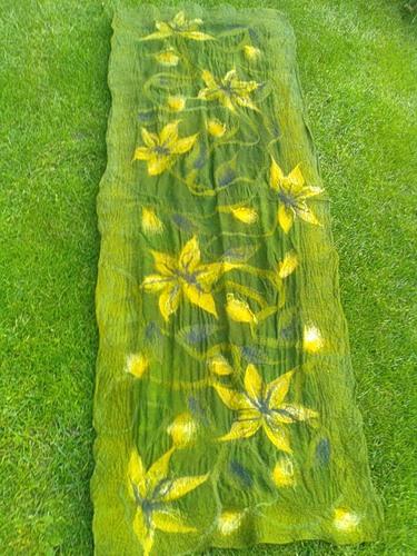 Оригінальні шарфи в техніці валяння