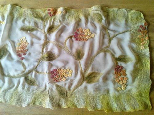 Ошатні шарфи в техніці валяння