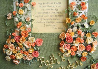 Листівка з трояндами в техніці квіллінг