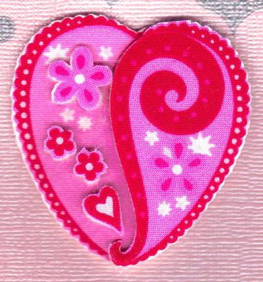 Валентинки з тканини 2