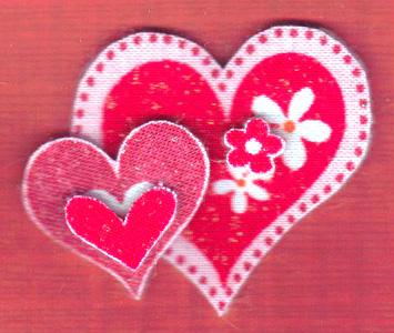 Валентинки з тканини 3
