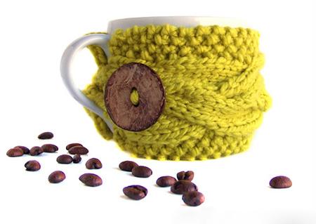 В'язаний светр для чашки