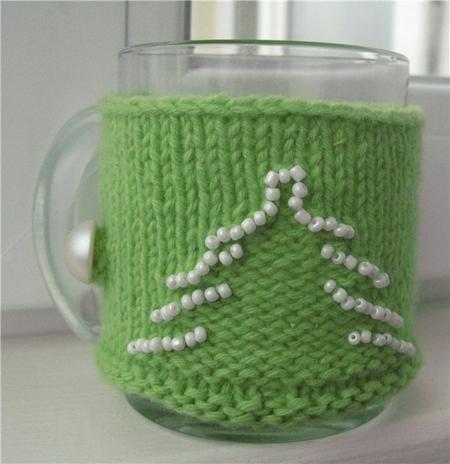 В'язаний светр для чашки - 19
