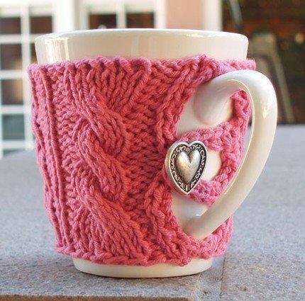 В'язаний светр для чашки - 20