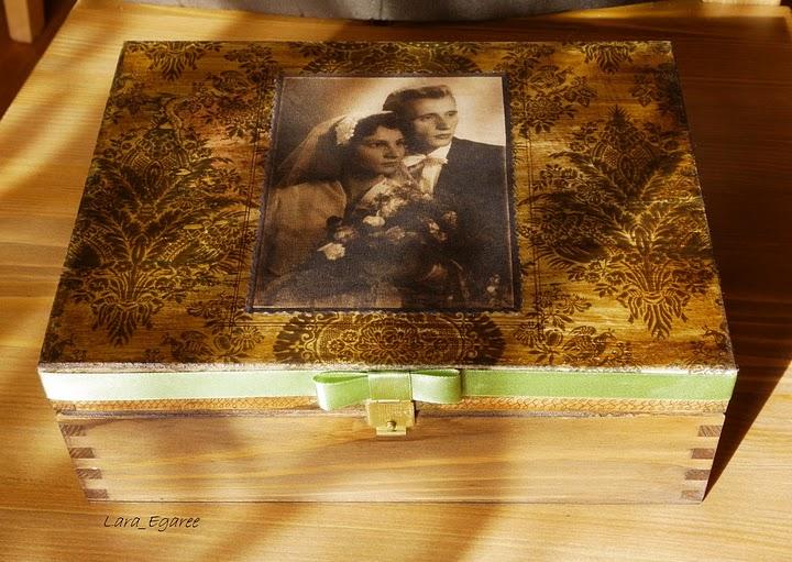 Декупаж по дерев'яній поверхні - скриньки - 2