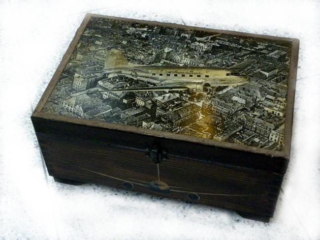 Декупаж по дерев'яній поверхні - скриньки - 8