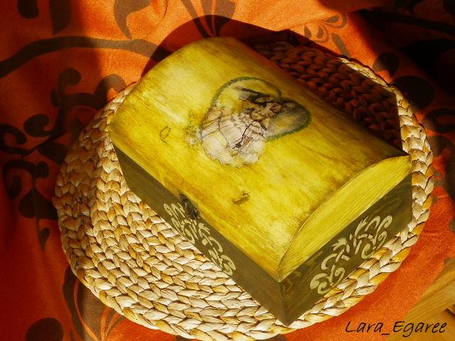 Декупаж по дерев'яній поверхні - скриньки - 4