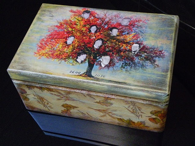 Декупаж по дерев'яній поверхні - скриньки - 3