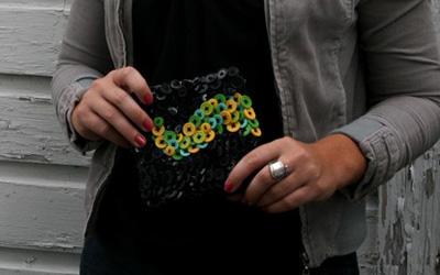 Оригінальні сумки декоровані ґудзиками