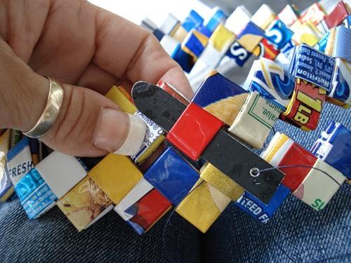 Сумка в техніці орігамі
