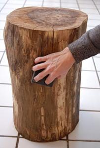 Журнальний столик з дерев'яного пня - 5