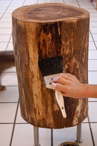 Журнальний столик з дерев'яного пня - 8