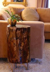 Журнальний столик з дерев'яного пня