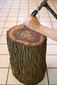 Журнальний столик з дерев'яного пня - 4