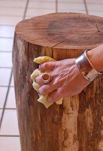 Журнальний столик з дерев'яного пня - 6