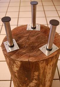 Журнальний столик з дерев'яного пня - 7